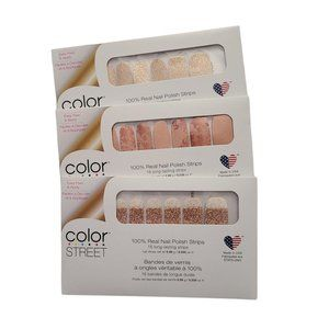 Color Street Nail Strips Set of 3 New